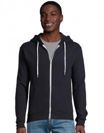 Unisex Hooded Zipped Jacket Silver